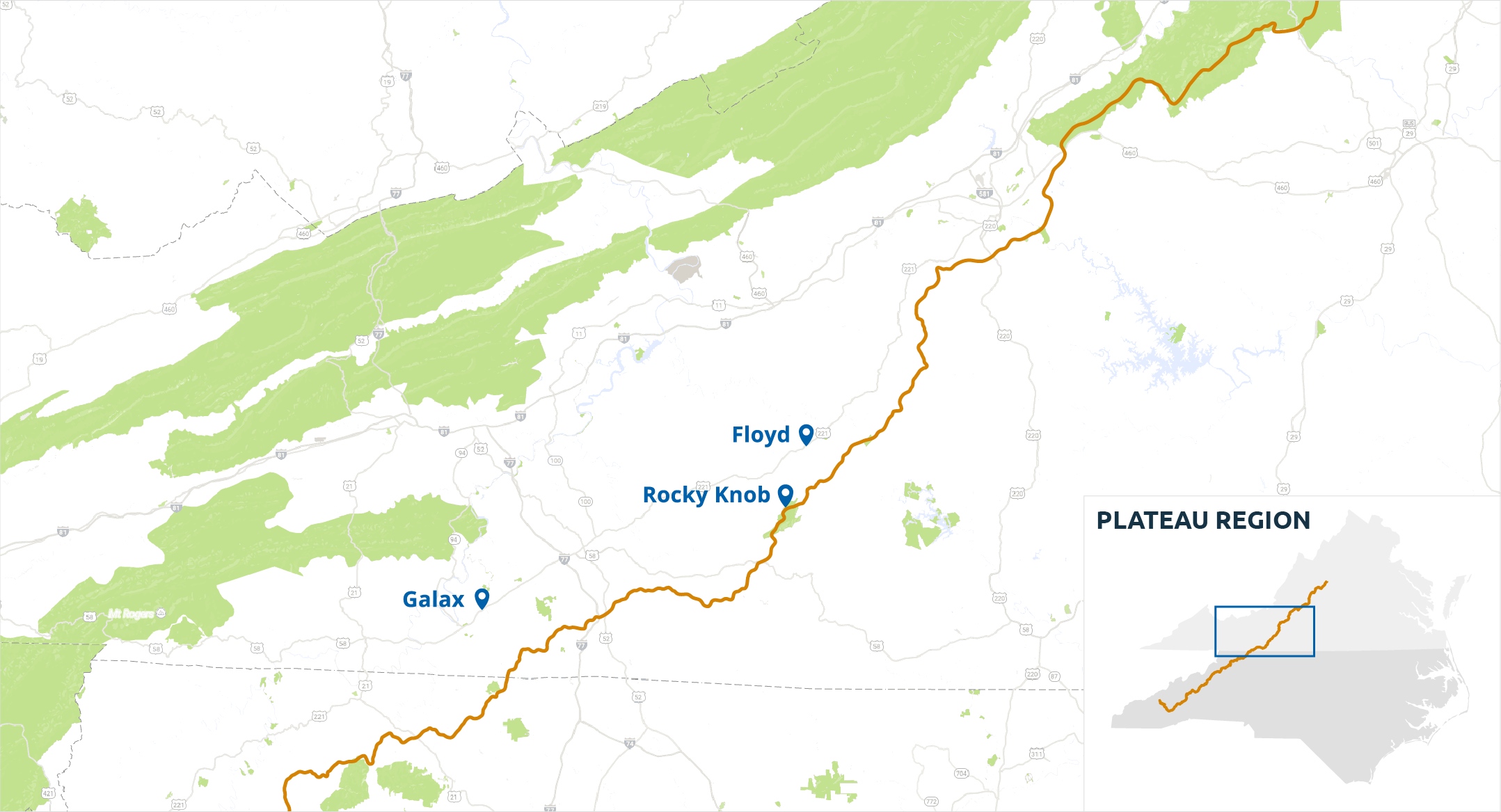 Plateau Region - Blue Ridge Parkway
