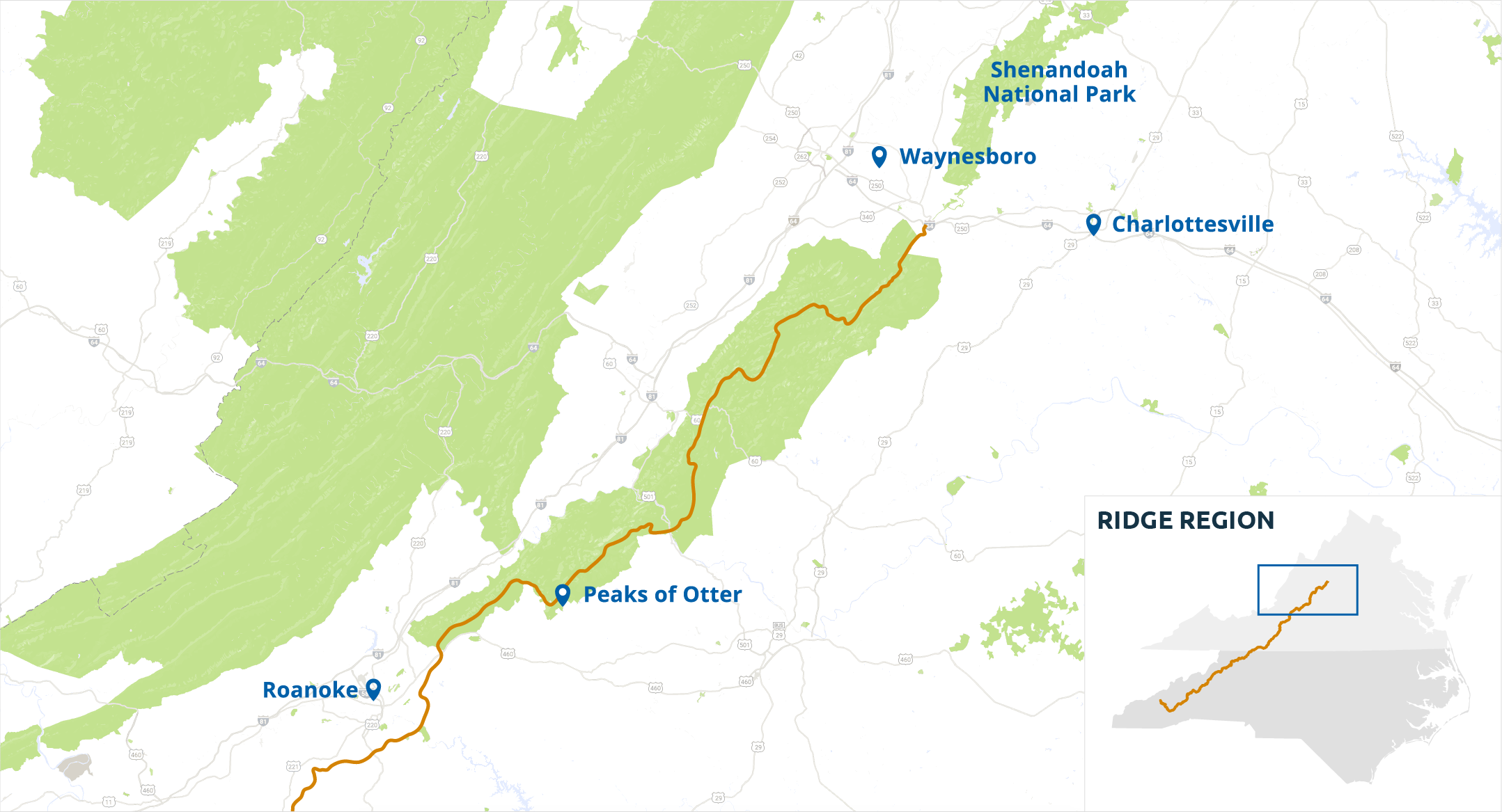 Ridge Region - Blue Ridge Parkway