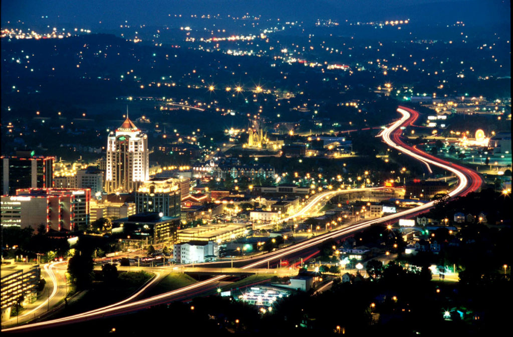 Roanoke Valley from Mill Mountain