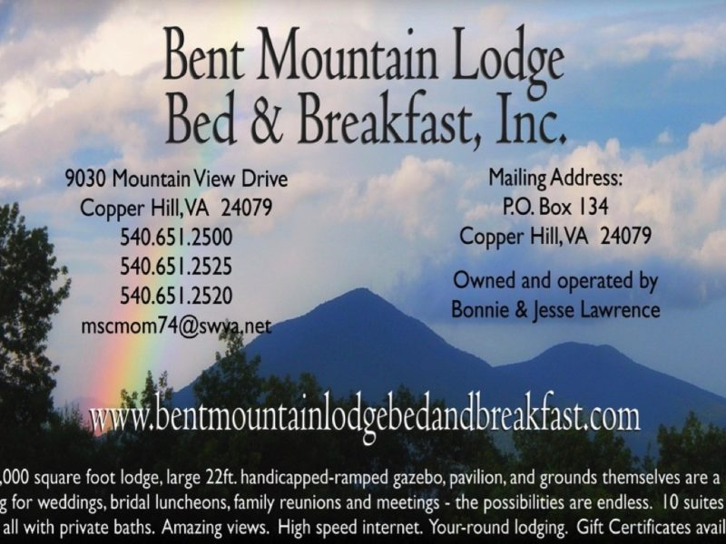 Bent Mountain Lodge Bed & Breakfast