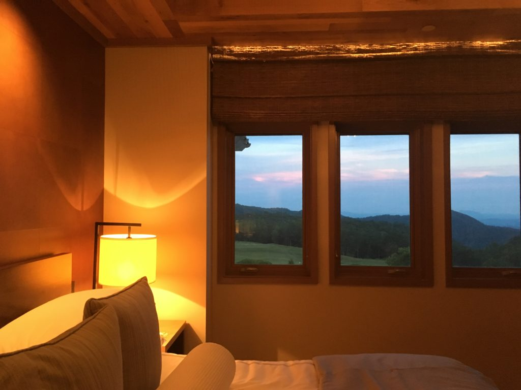 Room and view at Primland