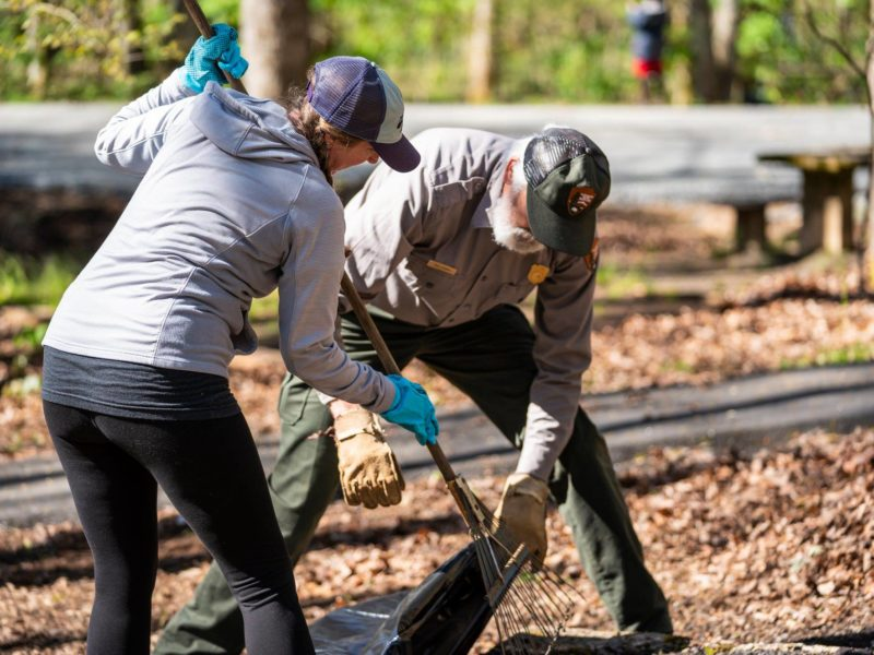 Parkway Volunteers work at Julian Price