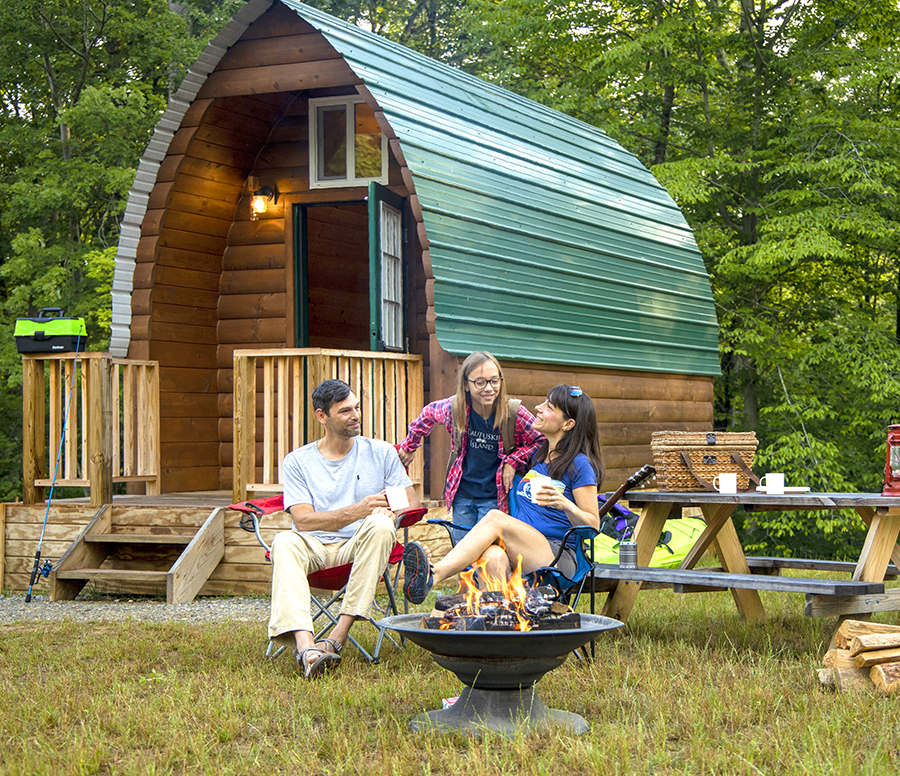 Explore Park Cabin Camping
