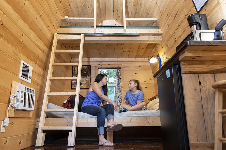 Explore Park Cabin Interior