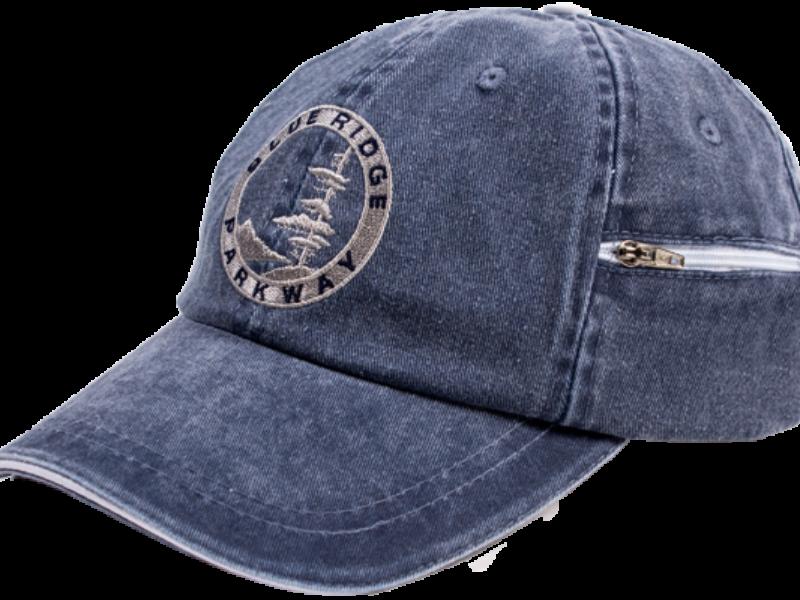 Blue hat with Blue Ridge Parkway logo