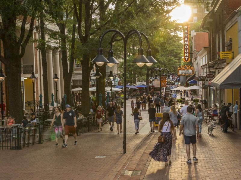 Charlottesville's Historic Pedestrian Downtown Mall