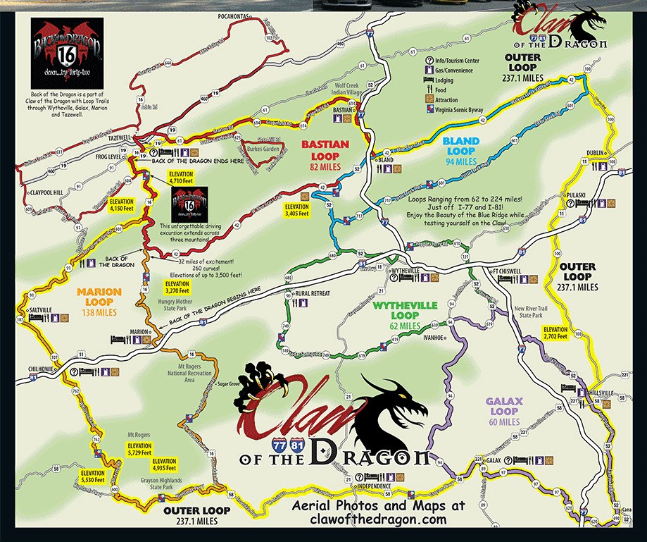 Claw of the Dragon Route Map